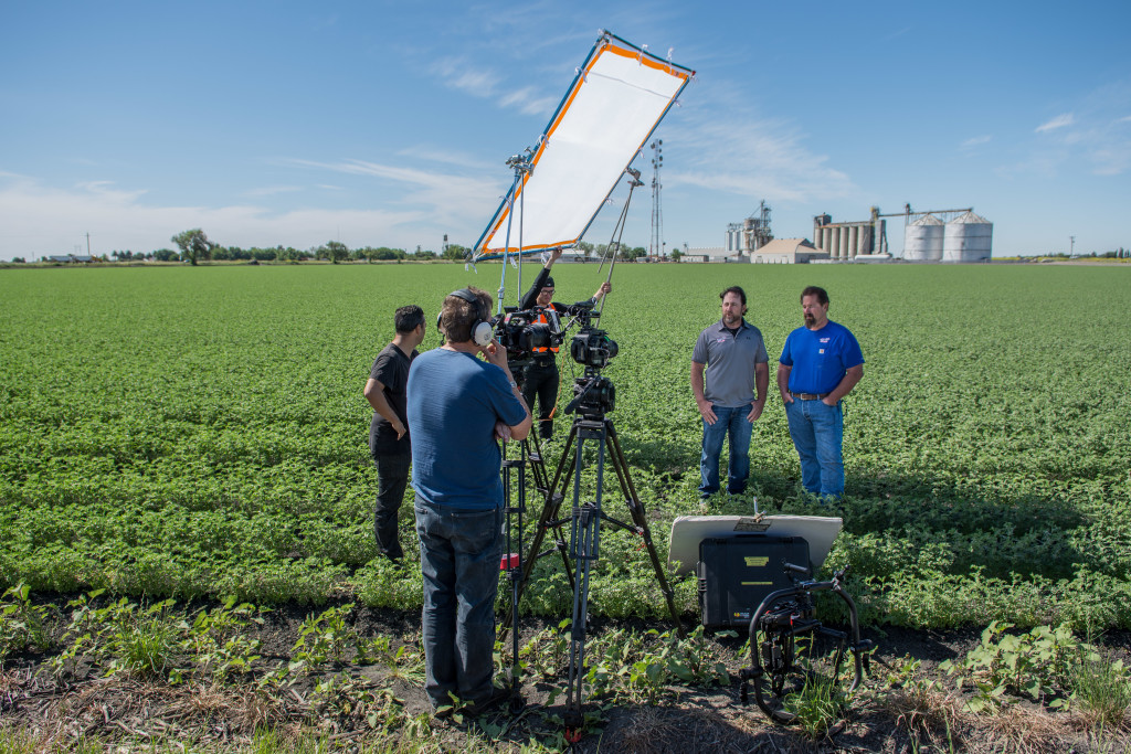 On location at Matteoli Brothers farmland in Robbins, CA.